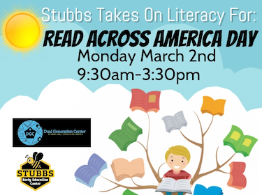 Stubbs Takes on Literacy for Read Across America Day